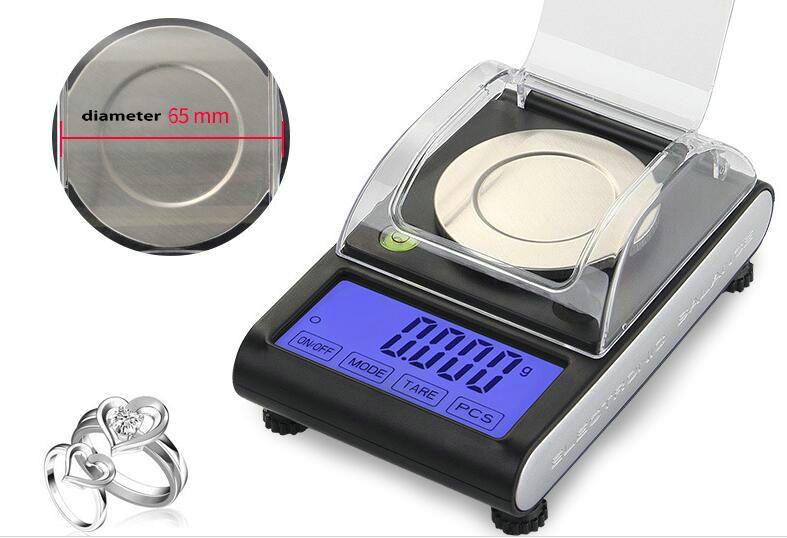 Écran géant Milligramme numérique tactile portable x 50 g 0.001g Bijoux Powders Pill Pesée Équilibre