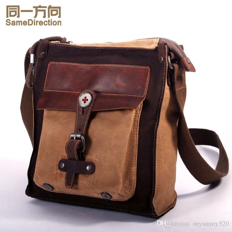 Tsd Brand Vintage Canvas Bag Women Crossbody Bags Unisex Front ...