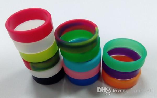 Ecigarette Vape Bänder bunte Silikonringe Silicon Vape Ring für ecig mechanische mod Glasbehälter Anti-Rutsch-Silikon-Ring