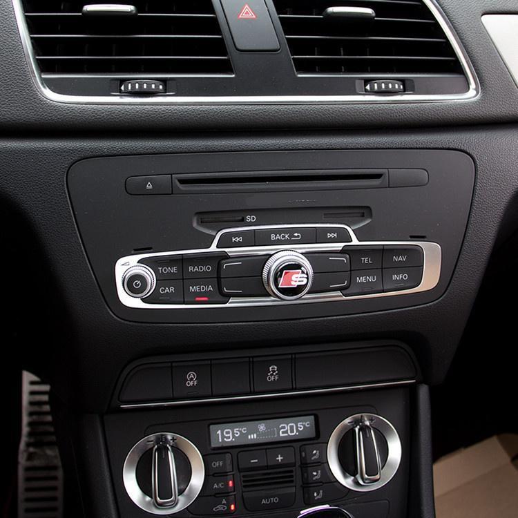 Kontrol paneli kolları dekoratif çıkartmalar S Hattı Sline Logo Badge Sticker İç Audi vurgulamak için özel etiketleme tamir