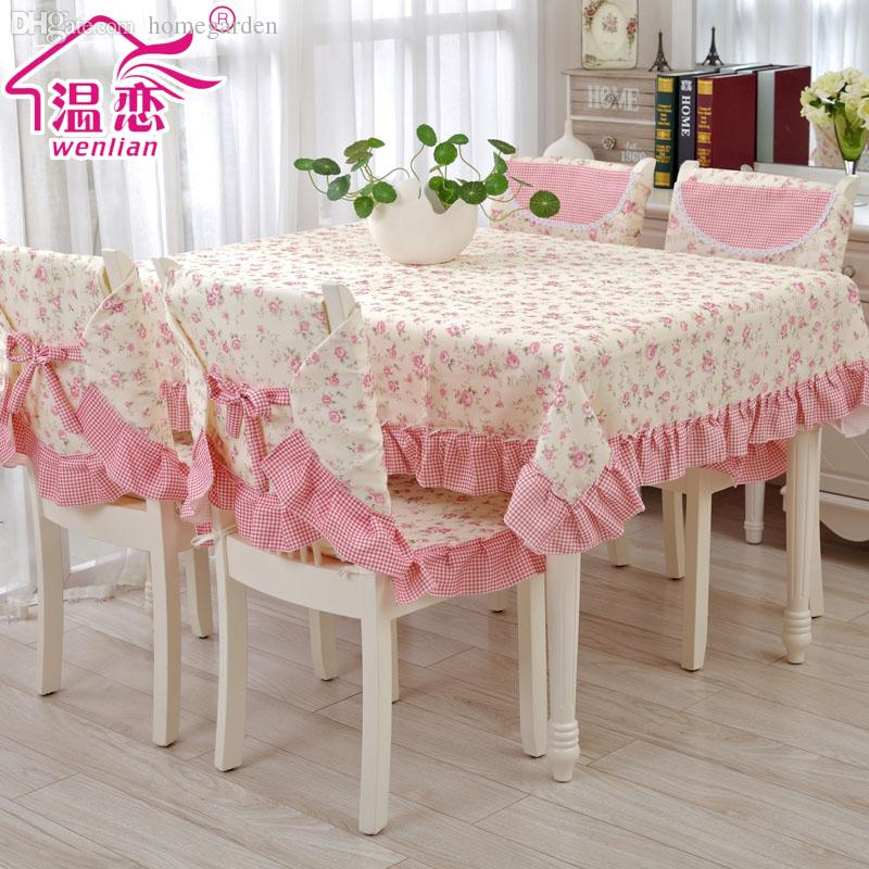 Wholesale Rustic Pink Table Cloth Dining Table Chair Cover Cloth ...