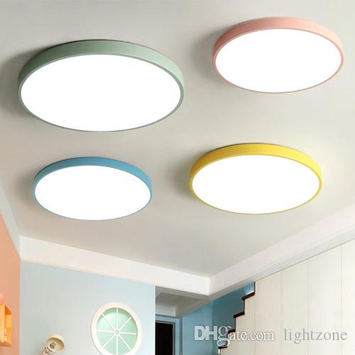 New Arrivals Ultra-thin Led Ceiling Lights Modern Macarons Round Led ...