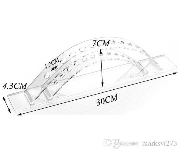 送料無料透明アクリルペンディスプレイスタンドホルダーアイライナー鉛筆ホルダー湾曲多機能ディスプレイラック化粧品オーガナイザー