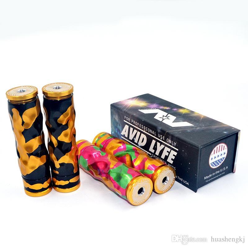 Avidlyfe Mod Avid Lyfe AV Twistgyre Aluminium Material 18650 Batterie Elektronische Zigarette 510 Gewinde Vape Comp Lyfe RDA Hohe Qualität