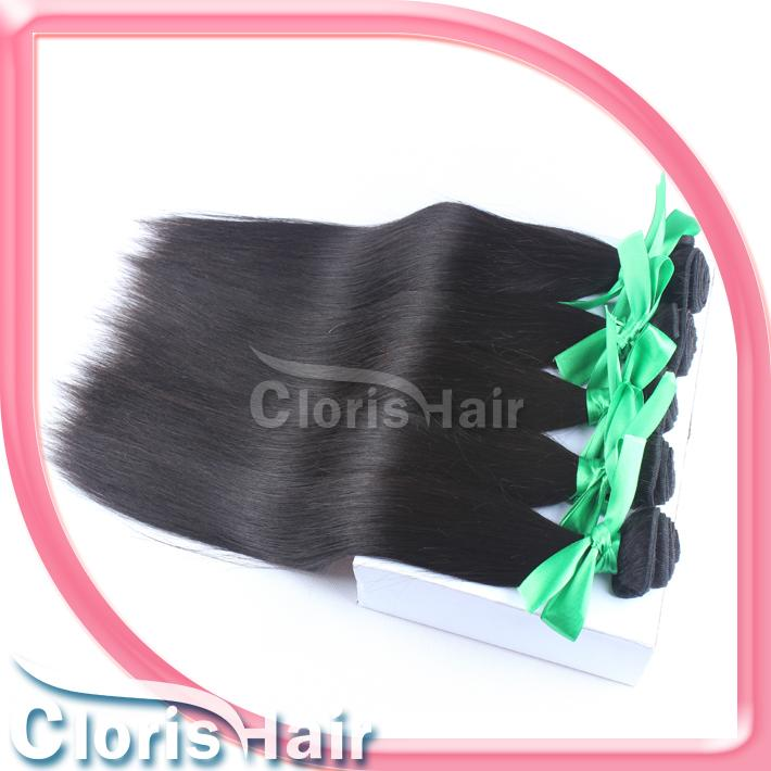 Popular 2 Bundles Raw Unprocessed Indian Hair Silky Straight Indian Remi Hair Weave Wholesale Natural Human Hair Weft Can Be Dyed