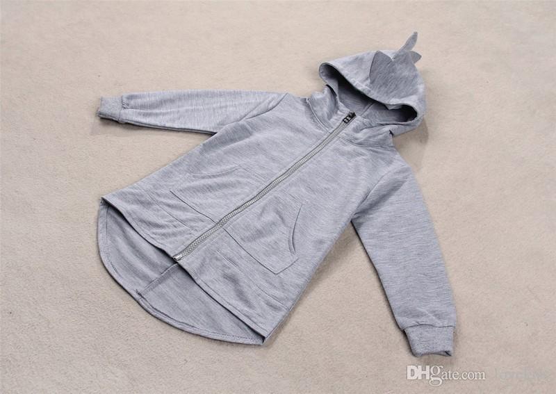 2015 осень новый дети динозавров толстовки мальчики и девочки куртки Детская верхняя одежда детей пальто детей одежда одежда