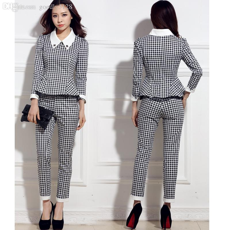 Best Wholesale Women Casual Pant Suits 2015 Formal Office Female ...
