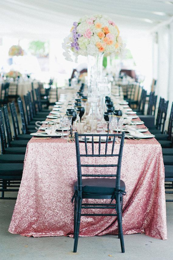 90 132 rose pink sequin tablecloth wholesale wedding beautiful rose rh dhgate com