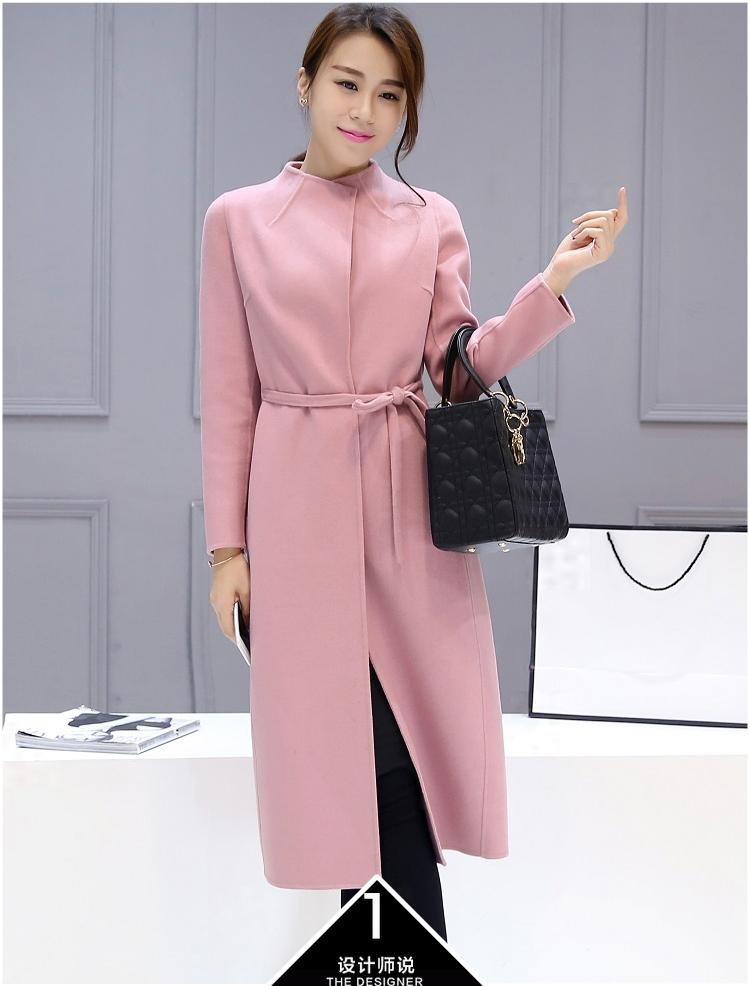 2018 2016 New Women'S Loose Coat Lady Wool Coat In The Long Winter ...