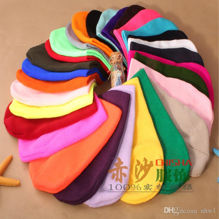 Fashion Unisex Knitted Neon Women Beanie Girls Autumn Casual Cap Women's Warm Winter Hats