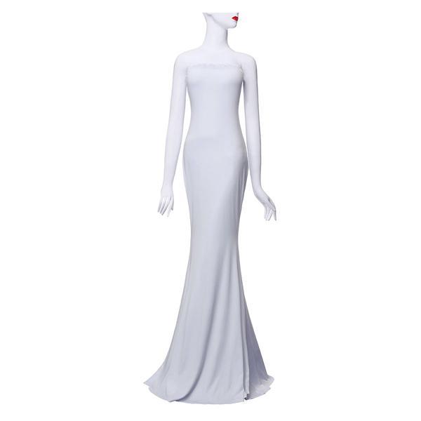 2015 europan الأمريكية أنيق حمالة قبالة الكتف مساء حزب اللباس مثير النساء أزياء الصيف ماكسي فساتين ذيل السمكة