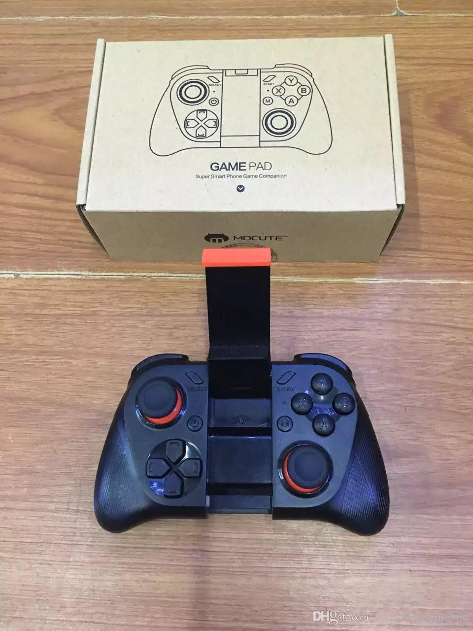 2017 MOCUTE 050 Wireless Bluetooth Gamepad PC Game Controller for Smartphone TV Box With Built-in Foldable Holder Wireless Game Joystick
