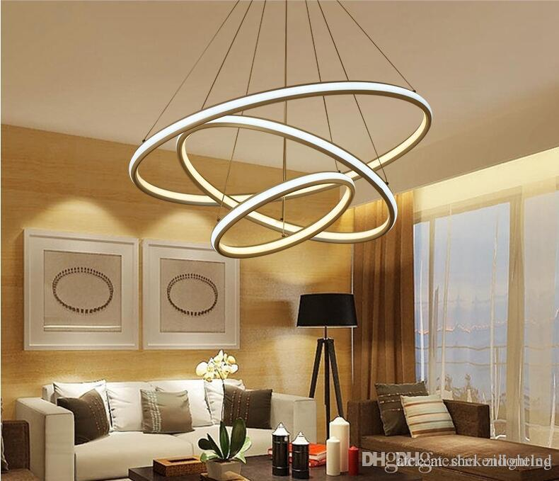 Round Ring Double Glow Led Chandeliers Modern