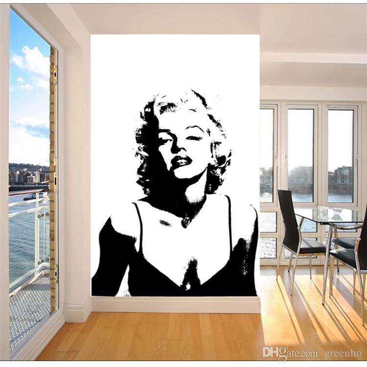 Amazing Classic Marilyn Monroe Photo Wallpaper Custom Elegant Large Wall Mural  Canvas Silk POP Art Wall Painting Room Decor Sofa Background Wall Part 15