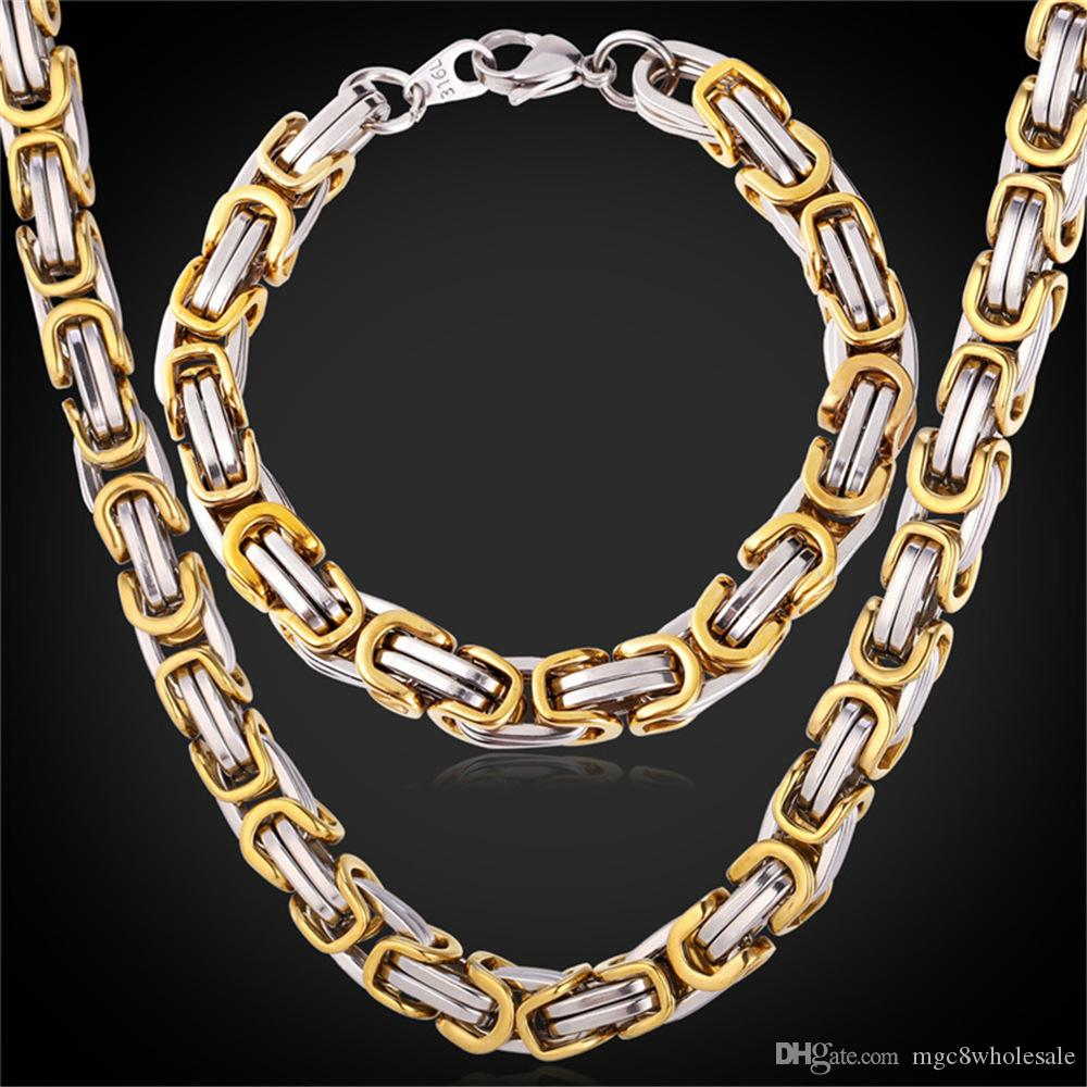 itm eternity gold chain just necklace in graduated byzantine white