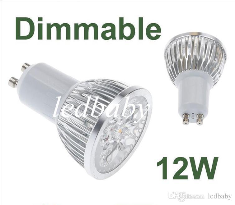 12W GU10 MR16 E27 GU5.3 B22 E14 Downlights LED Regulables Regulables Luces de focos Lámparas 4x3W Cálido / Frío / Blanco puro Envío gratuito