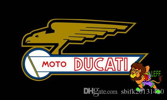 moto drapeau ducati, 90 * 150cm, 100% polyester, bannière, Impression numérique