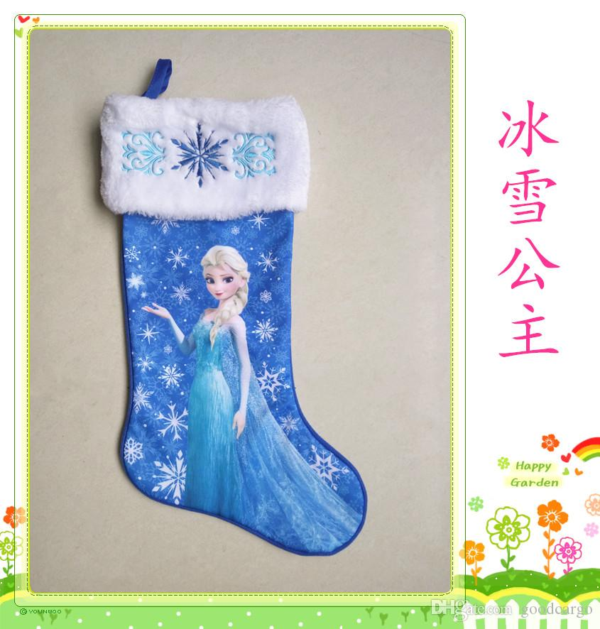 A+++ Frozen Christmas Stocking Decoration Elsa Anna Olaf Socks ...