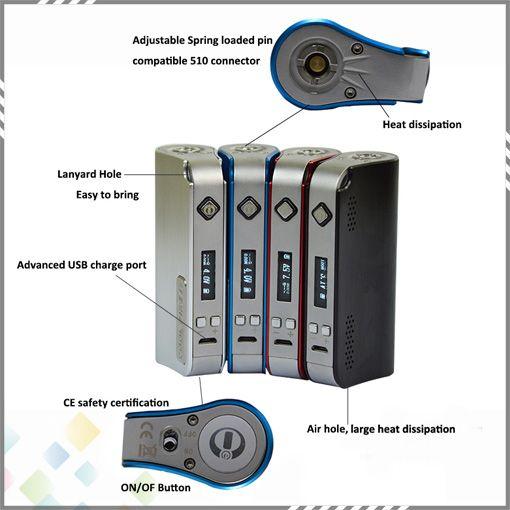 100% Innokin CoolFire IV 40W Batería Mod Auténtico Innokin Cool Fire IV Express Kit 2000mah Innokin Coolfire 4 Box Mod DHL gratuito