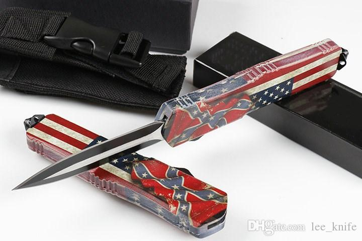 HIght Recomendar ferido dente dragão A07 quatro bandeira americana Britânica 4 modelal Caça Folding Pocket Knife cópias