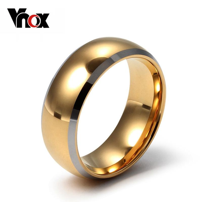 Top Quality Tungsten Carbide Rings 24k Gold Plated Engagement