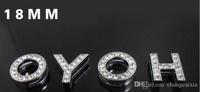 8MM/10MM A-Z Rhinestone Letter Charms for DIY Pet Name! DIY Dog Cat Pet Collar Slide Charm Letters