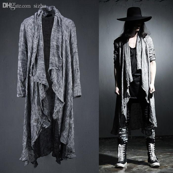 Online Cheap Fall 2016 Mens Long Sleeve Linen Shawl Cardigan,Males ...