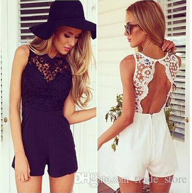 54c7c6ce82 Fashion Summer Lace Jumpsuits Rompers Womens Sexy Sleeveless ...