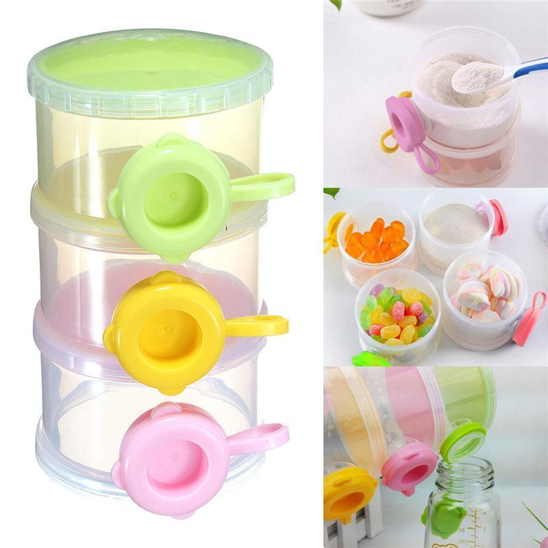 Baby Feeding Milk Powder Food Dispenser Portable Travel Container
