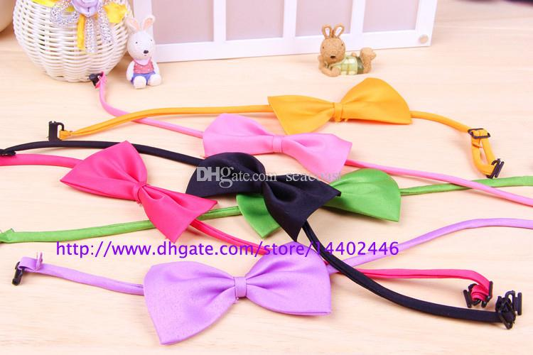 Бесплатная доставка! 200шт собака шеи галстук собака галстук-бабочка кошка галстук зоосалон поставки Пэт головной убор цветок