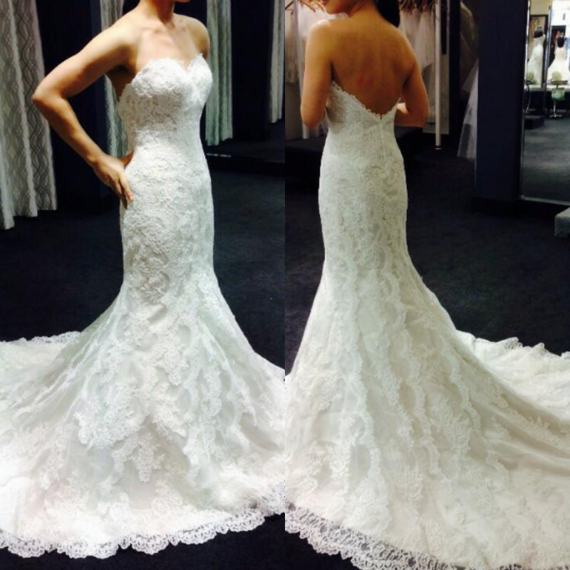 Custom Made Mermaid Wedding Dresses 2017 Lace Vintage Sweetheart Low Cut Back Best 25 Gowns Ideas On Spaghetti