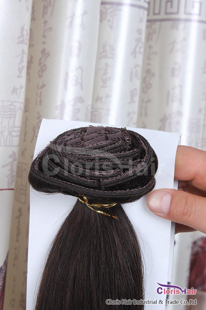 Cheap # 2 Darky Brown Remy Indian Clip in On Human Hair Extension naturale diritto 70g Full Head set 18-22 pollici