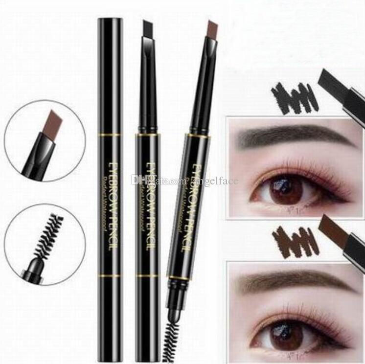 Makeup Double Eyebrow Pencil Brow Pencil Crayon Ebony Black Dark