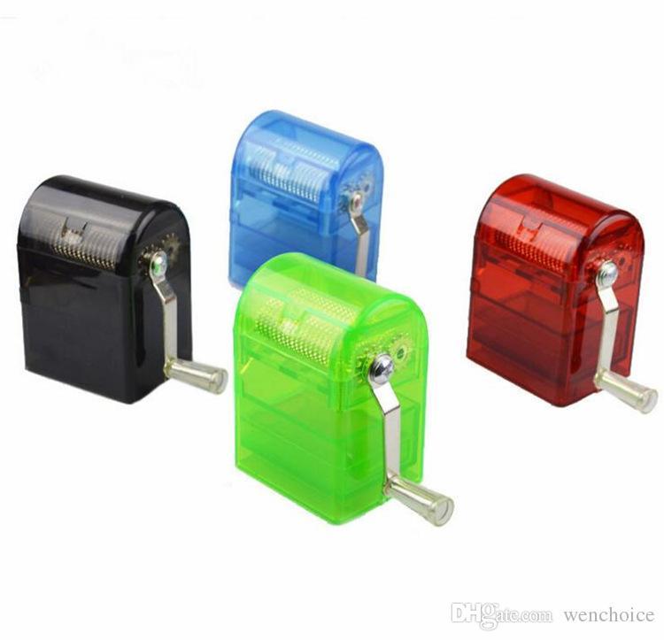 KKDUCK Plastik Ot Değirmeni Tütün Depolama Burnisher Renk Ile Büyük Boy Kırıcı Spice Mills Renk Rastgele Toptan Perakende Ucuz Fiyat