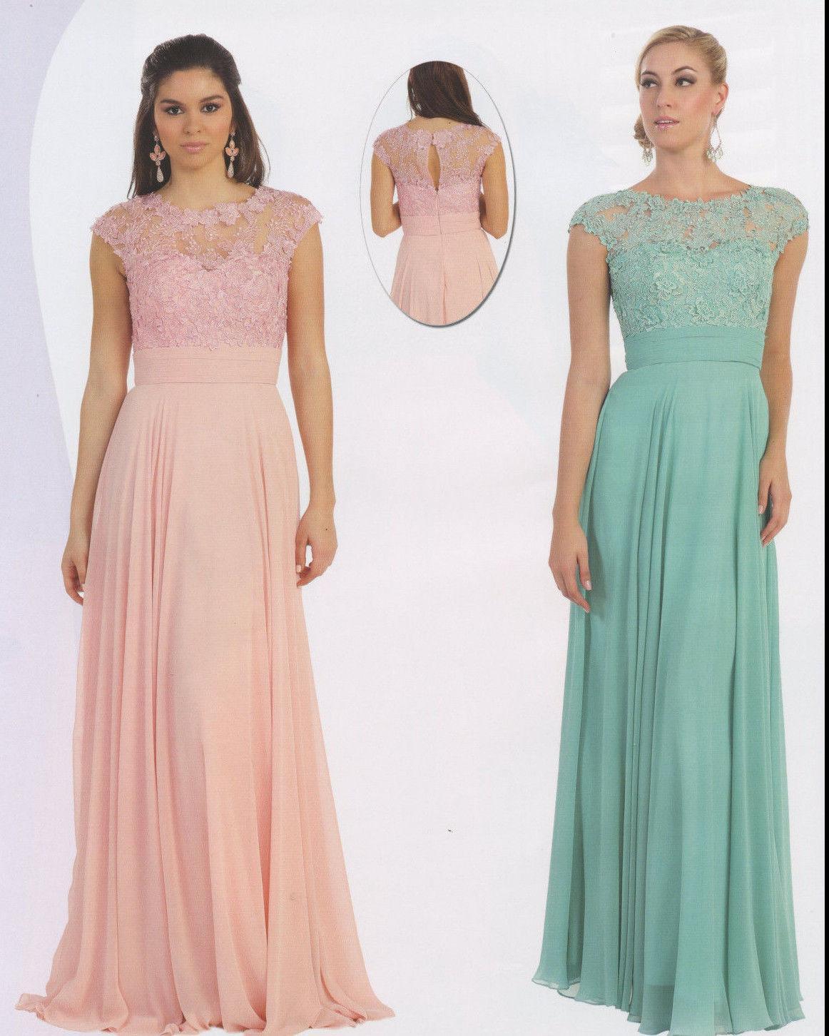 Großhandel Blush Mutter Der Braut Kleider Rosa Lace Prom Kleider ...