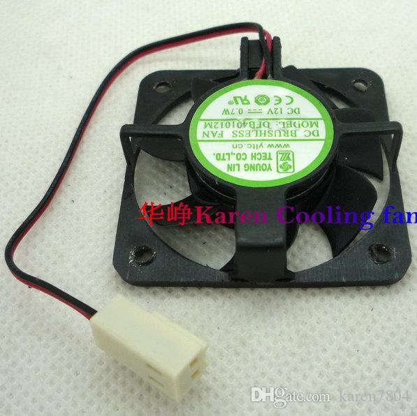 Lin dfb401012m 40 * 10 mm 12V 0.7W 2wired doble ventilador de enfriamiento de bola