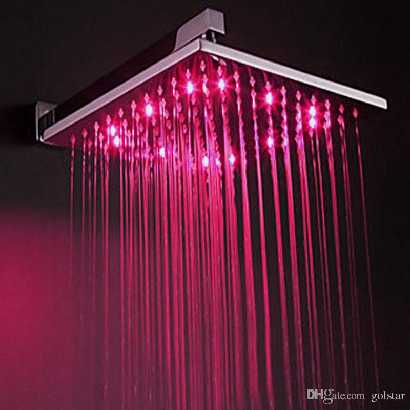 2019 8 10 12 Inches Rgb Light Up Shower Head Led Color Changing Rain From Golstar 2051