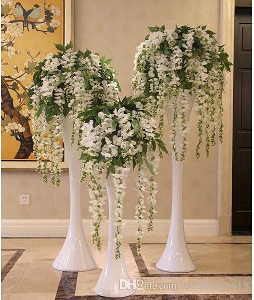 2015 hot sale silk flower artificial flower wisteria vine for Artificial flower decoration ideas