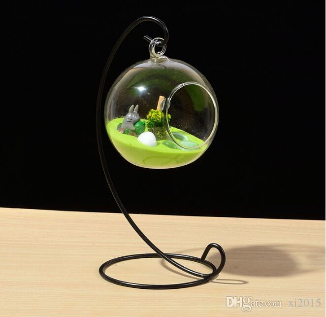 Tea Light Holder 80MM Glass Air Plant Terrariums Hanging Glass Orb Candle Holder For Wedding Candlestick SL5089