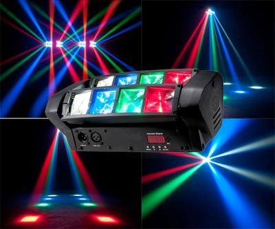 Wholesale- Hot sell Mini Spider Moving Head 8x10w Cree LED RGBW Beam Stage Dj Disco Laser show Sound Light