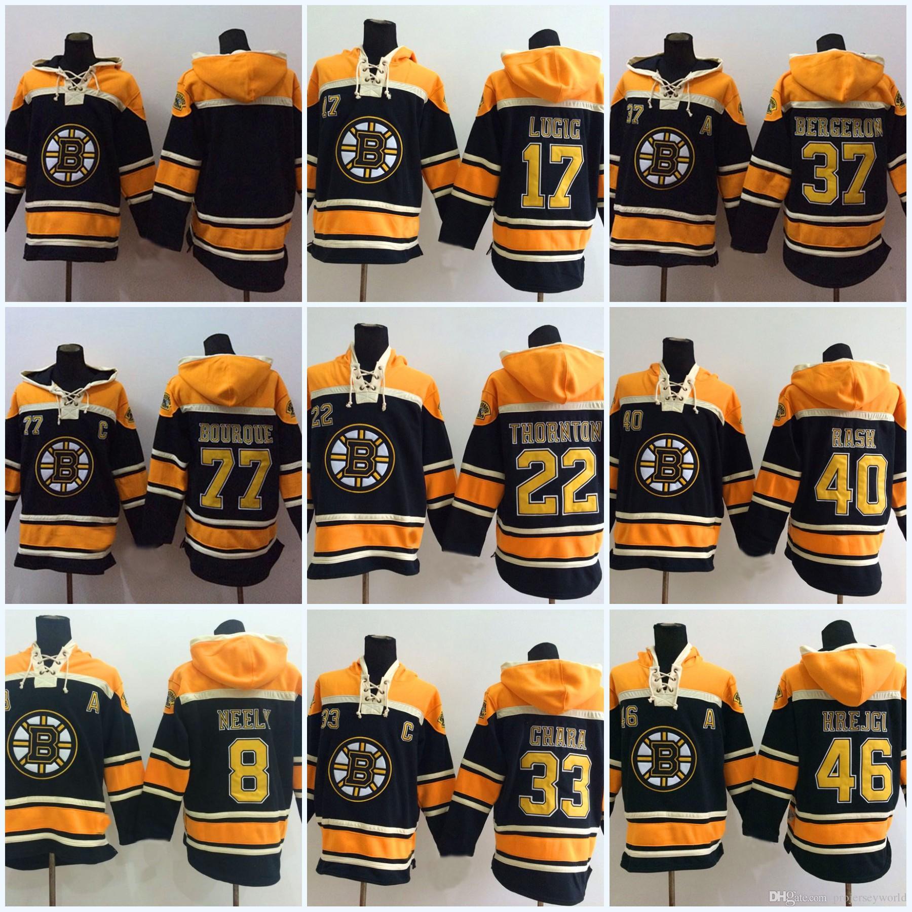 e6bd972bee1 Acquista 40 Tuukka Rask Boston Bruins Jersey 8 Cam Neely 17 Milan Lucic 22  Shawn Thornton 46 David Krejci Felpa Con Cappuccio Da Uomo Maglia Da Hockey  A ...