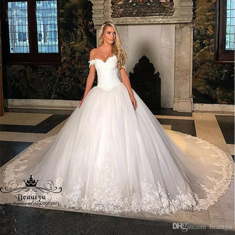 Discount 2018 Cathedral Plus Size Wedding Dresses Elegant