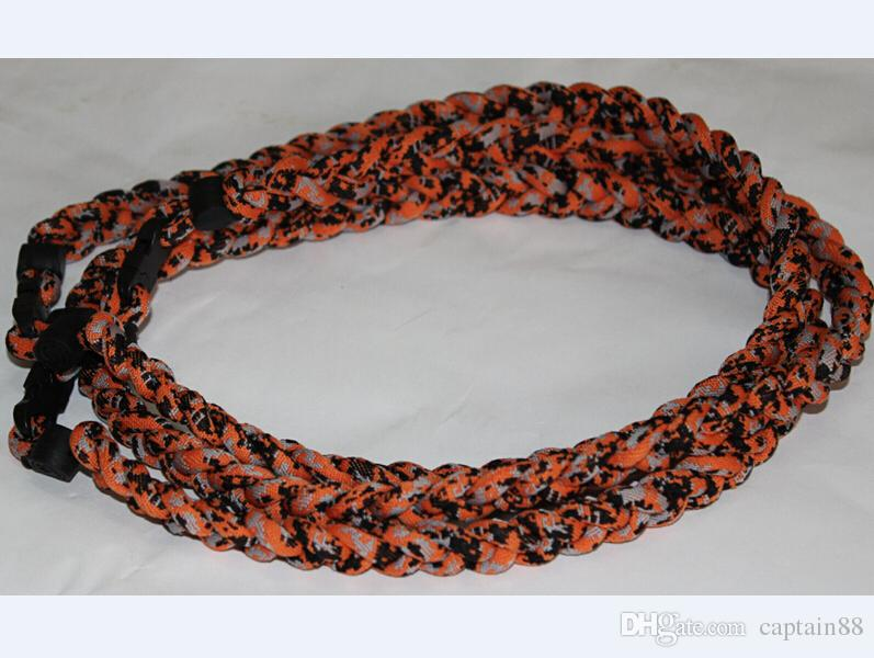 Field Champ Titanium Based Sports Camo Braided Necklace Lot of 2 Hunting Fishing