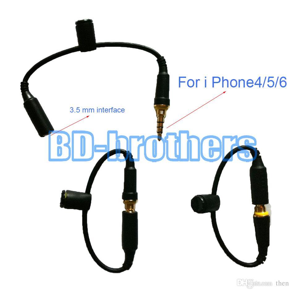 Водонепроницаемый чехол чехол для наушников Разъем для замены кабеля 3,5 мм между мужчинами Кабели с уплотнительной крышкой для iPhone4 / 5/6 наушников 100 шт. / Лол