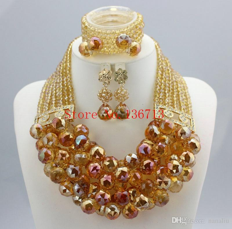 Best Multicolor Beads Bridal Jewelry Sets African Wedding Beads ...