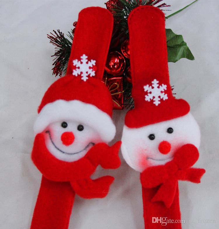 Рождественская вечеринка игрушки браслет ремешок рождественские принадлежности украшения небольшой подарок для детей санта-клаус снеговик олень бесплатная доставка A-0233