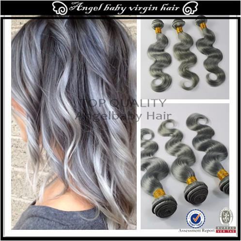 Cheap 7a grey silver ombre human hair extensions brazilian virgin 7a grey silver ombre human hair extensions 3pcslot brazilian virgin hair ombre hair grey hair weave pmusecretfo Image collections