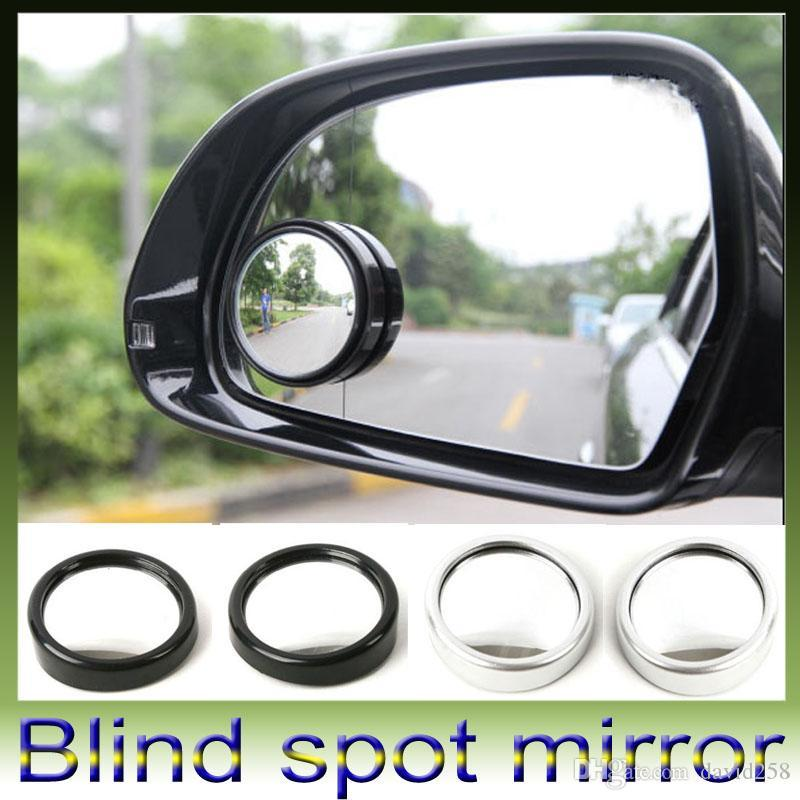 Car Auto Side Rearview Convex Round Wide Spot Angle Blind Mirror Dhl Free Retail Box 360 Degree Rotation With 67 76 Piece