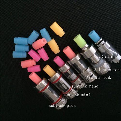 Silicone Subtank test drip tips disposable drip tips mouthpiece for Subtank mini Subtank nano Arctic Atlantis