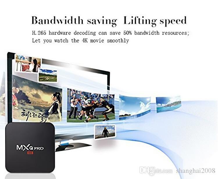 Caliente MX2 MXQ PRO Amlogic RK3329 Caja de TV cuádruple con Android 7.1 con reproductor de medios personalizado de 17.6 4K